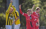 Thomas Kristensen (FC Helsingør) jubler efter en scoring, men målet annulleres under kampen i 2. Division mellem Brønshøj Boldklub og FC Helsingør den 14. september 2019 i Tingbjerg Idrætspark (Foto: Claus Birch)