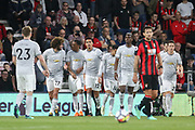 Manchester United Defender Chris Smalling celebrates his goal 0-1 during the Premier League match between Bournemouth and Manchester United at the Vitality Stadium, Bournemouth, England on 18 April 2018. Picture by Phil Duncan.