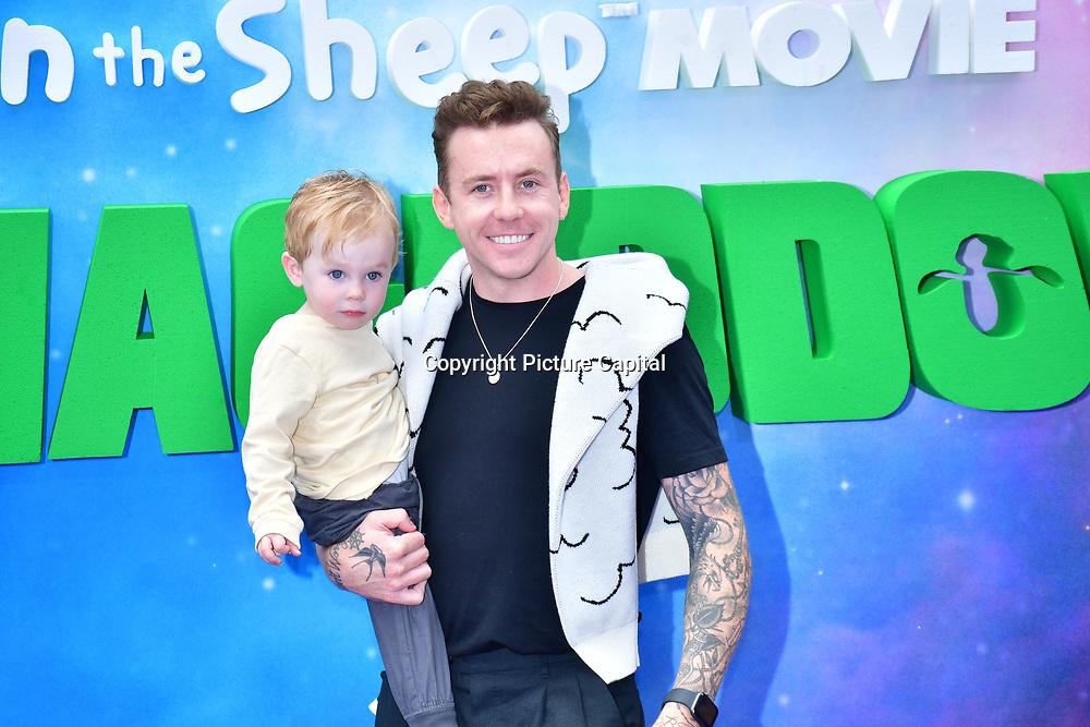 Cooper Alf Jones and Danny Jones attend the Shaun the Sheep Movie: Farmageddon, at ODEON LUXE on 22 September 2019,  London, UK
