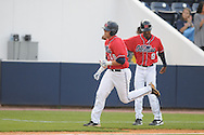 Mississippi's Matt Smith hits a two-run home run vs. UT-Martin college baseball at Oxford-University Stadium in Oxford, Miss. on Wednesday, April 28, 2010.