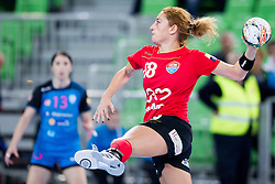 Patricia Vizitiu of HCM Baia Mare during handball match between RK Krim Mercator (SLO) and HCM Baia Mare (ROM) in 1st Round of Women's EHF Champions League 2015/16, on October 16, 2015 in Arena Stozice, Ljubljana, Slovenia. Photo by Urban Urbanc / Sportida