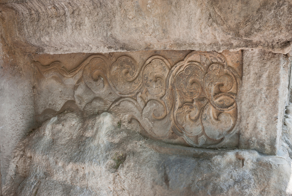 Nankin, Chine. Tombeau Xiaoling. D&eacute;tail de ma&ccedil;onnerie.<br /> <br /> Nanjing, China. Ming Xiaoling Mausoleum. Detail of masonery.