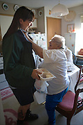 Garret County Community Action Non-Profit...Rocky Ford, Loch Lynn bus driver of 25 years, delivers meals to the elderly....Images of the Garrett County Community Action-Area Agency on Aging..Home Delivered Meals:.A nutritionally balanced meal is delivered to frail homebound elderly five days a week...Support Services:.Social, recreational, educational opportunities, trips, legal assistance are offered to older adults at Senior Centers and Eating Together Sites. A telephone reassurance service for homebound elderly is available as well as a cellular phone loaner program.