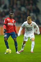 Adama Traore / Pedro Henrique - 15.03.2015 - Lille / Rennes - 29e journee Ligue 1<br /> Photo : Andre Ferreira / Icon Sport