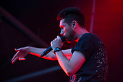 Bastille lead singer Dan Smith rocks the Honda stage Sunday at Music Midtown in Piedmont Park.