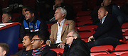 Alan Pardew takes watch of the youngsters from the stands during the Final Third Development League match between U21 Crystal Palace and U21 Bristol City at Selhurst Park, London, England on 3 November 2015. Photo by Michael Hulf.