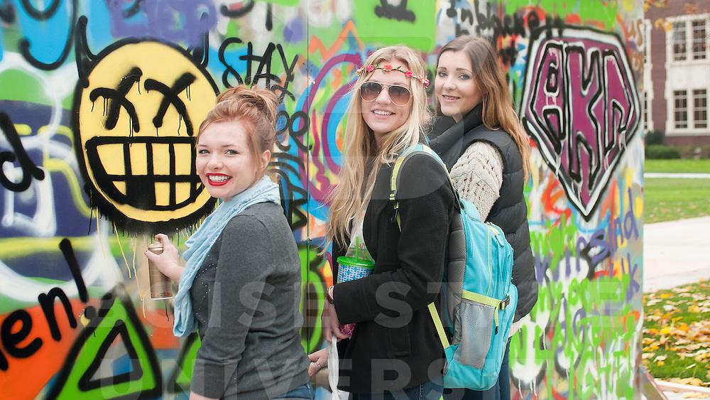 Wall of Oppression, BSU Quad, Photo by Ashley Alexander