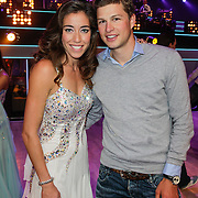 NLD/Hilversum/20120916 - 4de live uitzending AVRO Strictly Come Dancing 2012, Naomie met partner Sven Kramer
