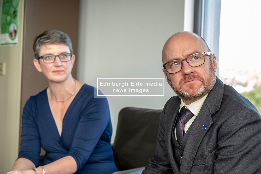 Pictured: Maggie Chapman and Patrick Harvie<br /><br />The Scottish Greens unveiled their list of candidates for the forthcoming EU election in Edinburgh today.<br /><br />The party's Co-Convenor Patrick Harvie MSP introduced the lead candidate, Maggie Chapman, and announced the full list at the Welcoming Association's HQ.  Mr Harvie and Ms Chapman took the opportunity to meet with EU citizens who are new to Edinburgh and learning English at the centre.<br /><br />The full list is as follows:<br />1.    Maggie Chapman<br />2.    Lorna Slater<br />3.    Gillian Mackay<br />4.    Chas Booth<br />5.    Mags Hall<br />6.    Allan Faulds<br /><br />Ger Harley | EEm 25 April 2019