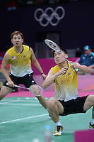 Koo KK and Tan BH, Malaysia Mens Doubles, First Round Olympic Badminton London Wembley 2012