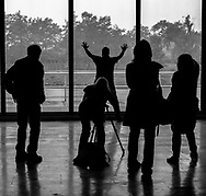 Silhouettes of both the Photographers and the Subject