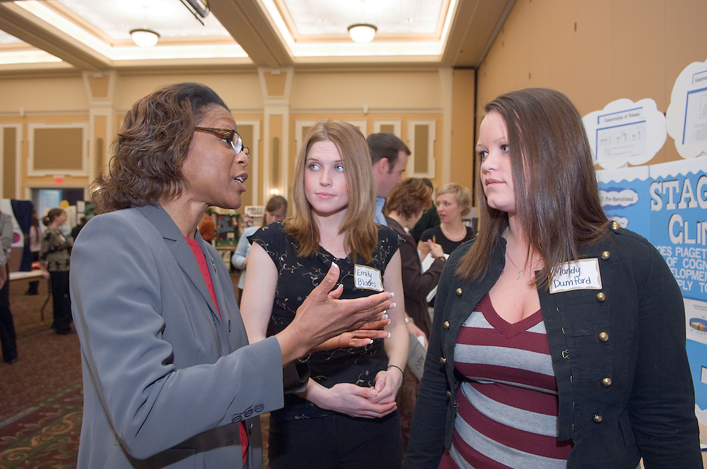 College of Education Undergrad Research Exhibition  in Baker Ballroom on Friday, March 9th. Provost Krendl,Dr. McDavis, and Dean Dr. Rene Middleton were there. There were about 45 trifold research presentations; the students worked in pairs....Dr. Rene Middleton, Emily Blades, Mandy Dumford