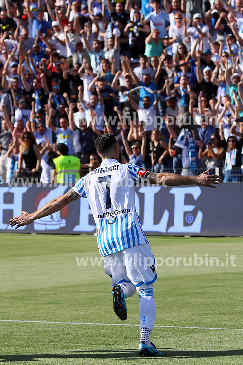 "Foto LaPresse/Filippo Rubin<br /> 20/05/2018 Ferrara (Italia)<br /> Sport Calcio<br /> Spal - Sampdoria - Campionato di calcio Serie A 2017/2018 - Stadio ""Paolo Mazza""<br /> Nella foto: GOAL MIRCO ANTENUCCI (SPAL)<br /> <br /> Photo LaPresse/Filippo Rubin<br /> May 20, 2018 Ferrara (Italy)<br /> Sport Soccer<br /> Spal vs Sampdoria - Italian Football Championship League A 2017/2018 - ""Paolo Mazza"" Stadium <br /> In the pic: GOAL MIRCO ANTENUCCI (SPAL)"