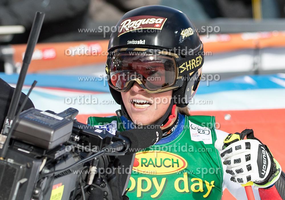 22.10.2016, Rettenbachferner, Soelden, AUT, FIS Weltcup Ski Alpin, Soelden, Riesenslalom, Damen, 2. Durchgang, im Bild Lara Gut (SUI, 1. Platz) // reacts after her 2nd run of ladies Giant Slalom of the FIS Ski Alpine Worldcup opening at the Rettenbachferner in Soelden, Austria on 2016/10/22. EXPA Pictures © 2016, PhotoCredit: EXPA/ Johann Groder