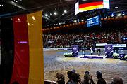 Podium World Cup Final Dressage 1. Isabell Werth and Weihegold OLD, 2. Laura Graves and Verdades 3. Helen Langehanenberg and Damsey FRH<br /> FEI World Cup Final Gothenburg 2019<br /> © DigiShots
