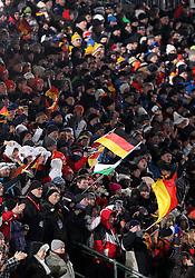 04.01.2012, DKB-Ski-ARENA, Oberhof, GER, E.ON IBU Weltcup Biathlon 2012, Staffel Frauen, im Bild Fans auf der Tribüne .// during relay Ladies of E.ON IBU World Cup Biathlon, Thüringen, Germany on 2012/01/04. EXPA Pictures © 2012, PhotoCredit: EXPA/ nph/ Hessland..***** ATTENTION - OUT OF GER, CRO *****