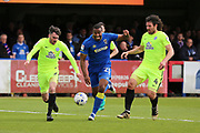 AFC Wimbledon striker Tyrone Barnett (23) running into the box during the EFL Sky Bet League 1 match between AFC Wimbledon and Peterborough United at the Cherry Red Records Stadium, Kingston, England on 17 April 2017. Photo by Matthew Redman.