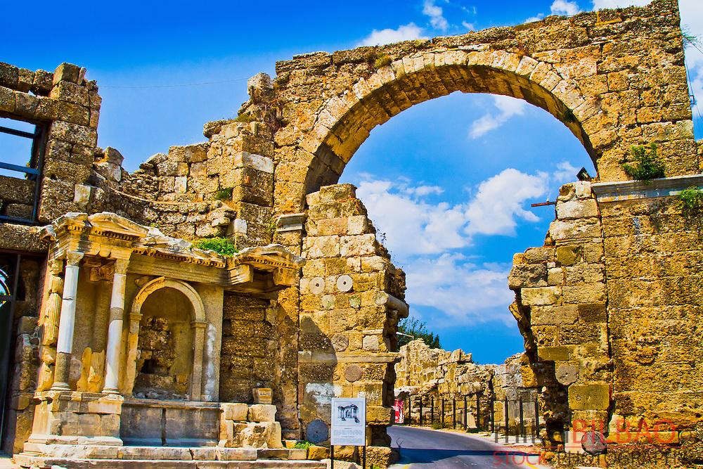 Side. Ancient city ruins. Province of Antalya. Mediterranean coast. Turkey