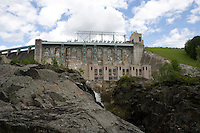 Comerford Dam on Connecticut River, was completed in 1931 at Monroe, NH