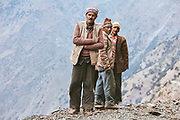 Locals working on a  road in Bharmour, Chamba, Himachal Pradesh, India