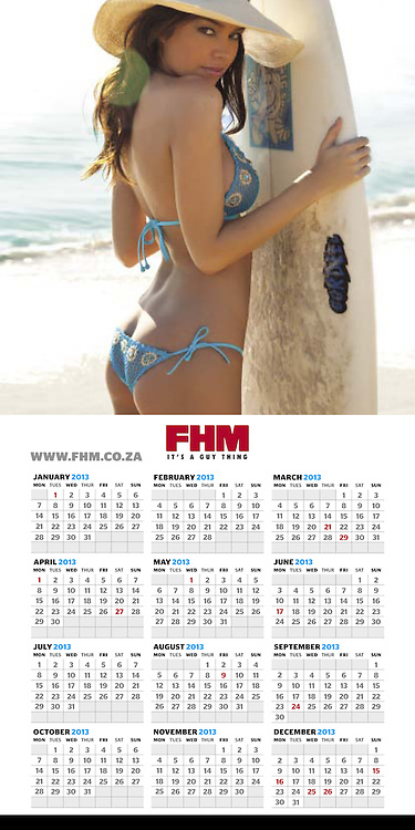 Beautiful Brittany Binger features as the back cover girl in the FHM Calendar this year. <br /> <br /> Image from our shoot of Brittany Binger, available for worldwide use with approval:  http://www.apixsyndication.com/gallery/Brittany-Binger/G0000XEiUfBTLSX4/C0000bpjmyLWLtnE
