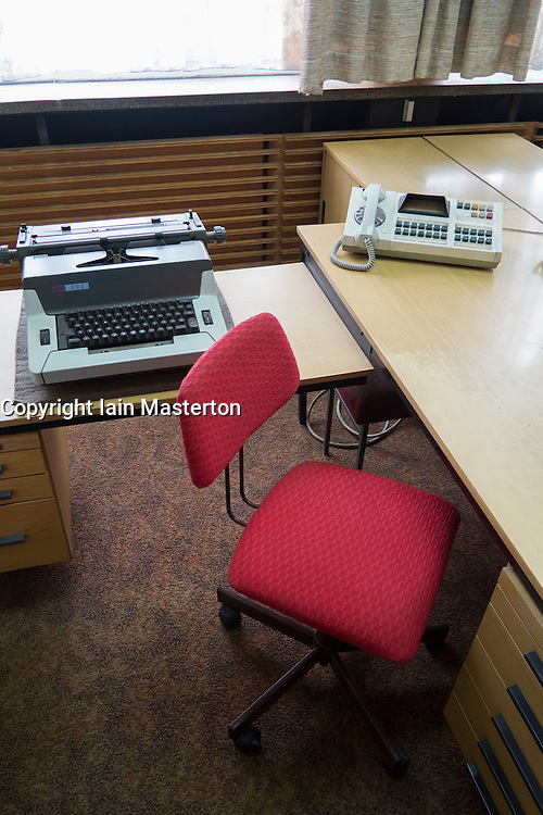 Interior of offices of East German secret Police now STASI Museum in Berlin Germany