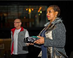 30-01-2011 BASKETBAL: DAMES ALL STAR GALA: ROTTERDAM<br /> Nellie Cooman reikt de All Star prijzen uit<br /> ©2011-WWW.FOTOHOOGENDOORN.NL / Peter Schalk