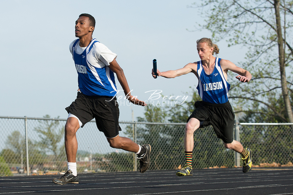 April/24/13:   MCHS Track and Field vs Clarke and Strasburg.