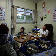 May 28, 2013 - Togura, Japan: Diner time at the Abe's family's prefabricated house in a neighbourhood used as temporary shelter for families who lost their homes during the devastating earthquake and tsunami that hit the east coast of Japan in 2011. On the third anniversary of the disaster, nearly 270,000 remain displaced. (Paulo Nunes dos Santos)
