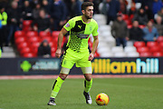 Huddersfield Town defender Tommy Smith looks for a pass during the Sky Bet Championship match between Nottingham Forest and Huddersfield Town at the City Ground, Nottingham, England on 13 February 2016. Photo by Aaron  Lupton.