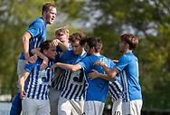 FODBOLD: Hornbæk-jubel efter 2-0 mål under finalen i Seriepokalen mellem Hornbæk IF og Ballerup Boldklub den 20. maj 2019 på Brøndby Stadion. Foto: Claus Birch.