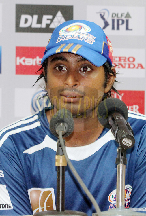 Ambati Rayudu addressing the press during match 8 of the the Indian Premier League ( IPL ) Season 4 between the Royal Challengers Bangalore and the Mumbai Indians held at the Chinnaswamy Stadium, Bangalore, Karnataka, India on the 12th April 2011..Photo by Mahesh Jha/BCCI/SPORTZPICS