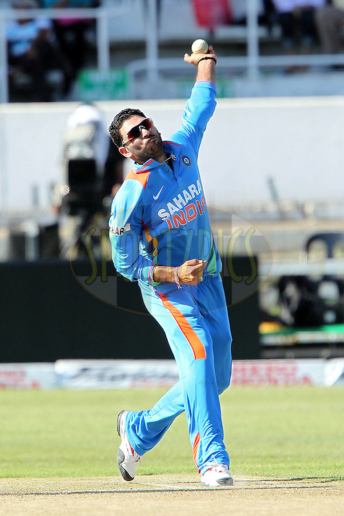 Yuvraj Singh of India during the 1st ODI between South Africa and India held at Kingsmead Stadium in Durban, South AFrica on the 12th January 2011 )..Photo by Ron Gaunt/BCCI/SPORTZPICS