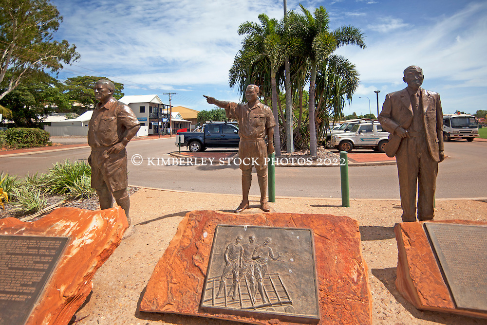 Three Statues in Chinatown Broome.