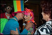 DUGGIE FIELDS; MICHAEL DAVIS; ZANDRA RHODES; PATRICIA QUINN, Andrew Logan's Alternative Miss World 2014. Shakespeare's Globe, London. 18 October 2014.
