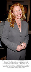 TV garden show presenter CHARLIE DIMMOCK at a lectrure in London on 13th May 2002.OZX 66