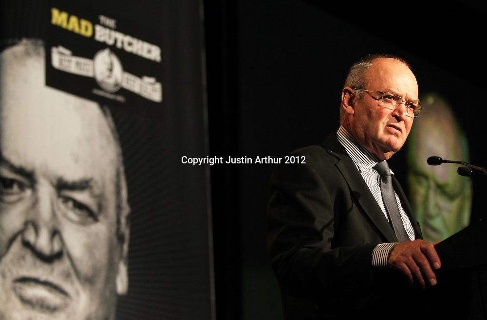 "Sir Graham Henry .The Mad Butcher Presents, ""Final Word: A Tribute to Sir Graham Henry"" at the Amora Hotel, Wellington, New Zealand on Tuesday 7 August 2012. Photo: Justin Arthur / photosport.co.nz"