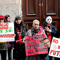 Protest of the Meridiana employees against dismissal in Rome