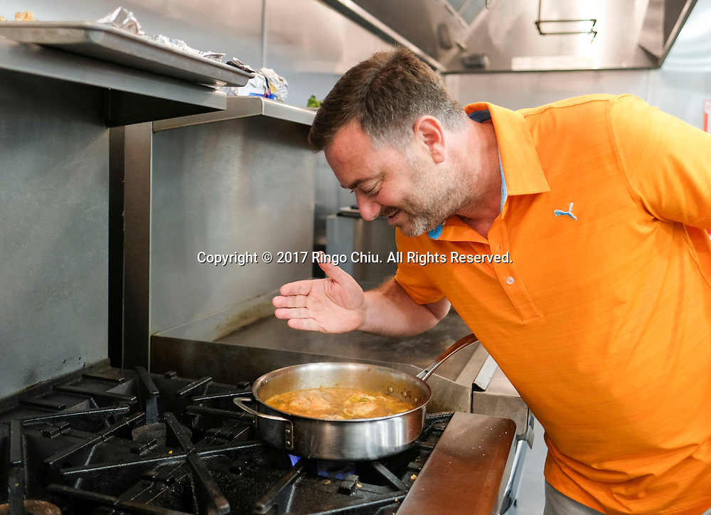 Kyle Ransford, CEO and founder of a meal preparation delivery service Chef&rsquo;d in El Segundo.(Photo by Ringo Chiu)<br /> <br /> Usage Notes: This content is intended for editorial use only. For other uses, additional clearances may be required.