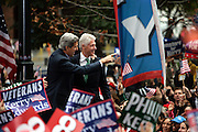 Philadelphia,PA,USA,October 25th 2004; Presidential hopeful Senator John Kerry gets some help from former President Bill Clinton during a rally in Love Park in Philadelphia.<br /> <br /> Photo; Orjan F. Ellingvag/Dagbladet/Getty  *** Local Caption ***