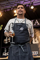 May 25, 2018 - Napa, California, U.S - Celebrity Chef AARON SANCHEZ  during BottleRock Music Festival at Napa Valley Expo in Napa, California (Credit Image: © Daniel DeSlover via ZUMA Wire)