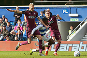 Queens Park Rangers midfielder Bright Osayi-Samuel (20) brought down, no foul given, during the EFL Sky Bet Championship match between Queens Park Rangers and Swansea City at the Loftus Road Stadium, London, England on 13 April 2019.