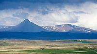 Stafholtstungur vista, Mount Baula in background. Borgarfjörður, West Iceland.