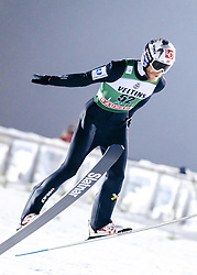 February 8, 2019 - Lahti, Finland - Robert Johansson competes during FIS Ski Jumping World Cup Large Hill Individual Qualification at Lahti Ski Games in Lahti, Finland on 8 February 2019. (Credit Image: © Antti Yrjonen/NurPhoto via ZUMA Press)