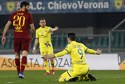 February 8, 2019 - Verona, Italia - Foto Paola Garbuio/LaPresse.08 febbraio 2019 Verona, Italia.sport.calcio.Chievo Verona  vs Roma- Campionato di calcio Serie A TIM 2018/2019 - stadio Bentegodi.Nella foto: delusione di stepinsky egiaccherini..Photo Paola Garbuio/LaPresse.february  08, 2019 Verona, Italy.sport.soccer.Chievo Verona  vs Roma  - Italian Football Championship League A TIM 2018/2019 -  stadio Bentegodi..In the pic:stepinsky,giaccherini (Credit Image: © Paola Garbuio/Lapresse via ZUMA Press)