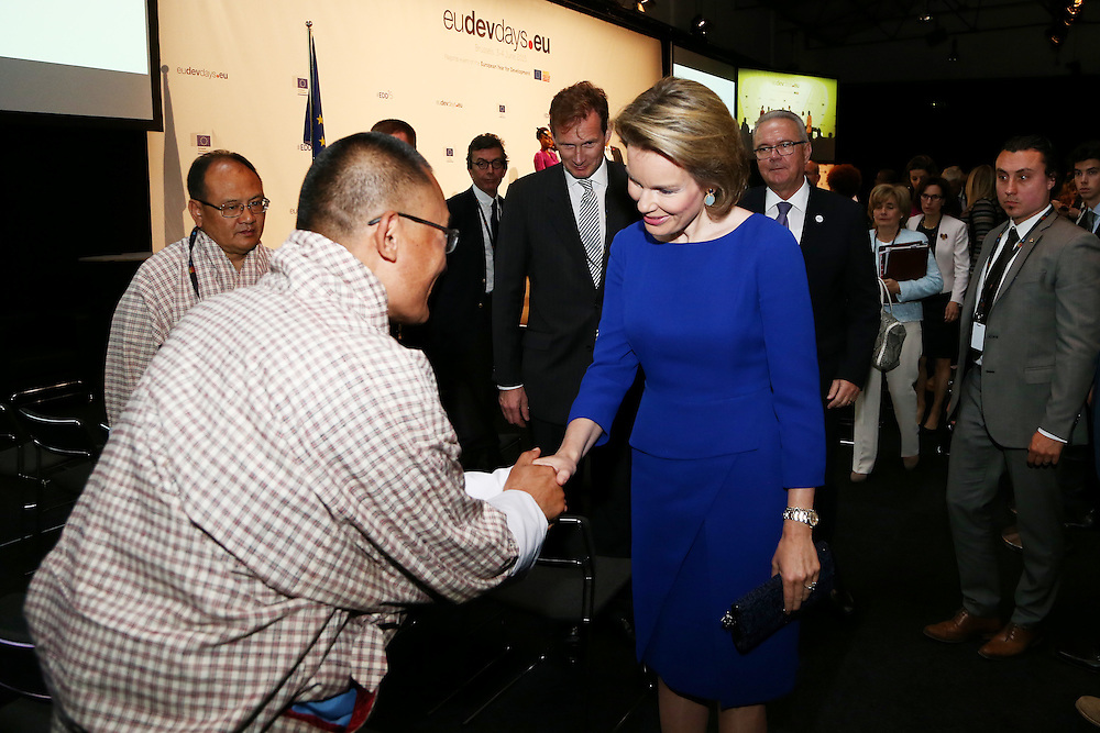 20150603- Brussels - Belgium - 03 June2015 - European Development Days - EDD  - Queen Mathilde of Belgium and Tshering Tobgay, Buthan prime minister at the EDD during the Right to quality education seminar © EU/UE