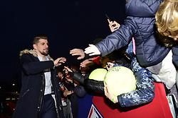 March 15, 2019 - Lille, France, FRANCE - Arrivee au Stade des joueurs Lillois.Xeka  (Credit Image: © Panoramic via ZUMA Press)