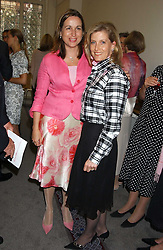 Left to right, SARA DAVENPORT founder of the London Haven and HRH The COUNTESS OF WESSEX at a charity event 'In The Pink' a night of music and fashion in aid of the Breast Cancer Haven in association with fashion designer Catherine Walker held at the Cadogan Hall, Sloane Terrace, London on 20th June 2005.<br /><br />NON EXCLUSIVE - WORLD RIGHTS