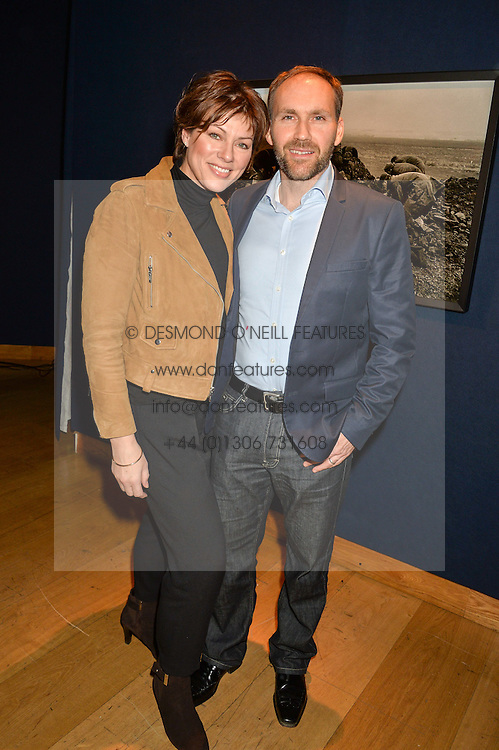 KATE SILVERTON and her husband MIKE HERON at a lecture featuring Don McCullin talking on War and Peace with Kate Silverton in aid of TUSK at Christie's, 8 King Street, London on 9th December 2015.