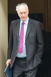 © Licensed to London News Pictures. 08/07/2014. Westminster, UK Sir George Young, Conservative MP,  leaving Downing Street today 8th July 2014 after the weekly cabinet meeting. Photo credit : Stephen Simpson/LNP